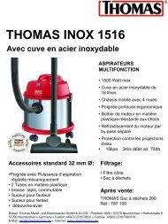 Thomas Aspirateur cuve Thomas INOX 1516 - fiche produit