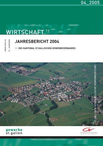 Jahresbericht 2004 Kantonaler Gewerbeverband St.Gallen