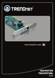 Trendnet Carte ethernet Trendnet Carte PCI Gigabit 10/100/1000Mbps low pr - notice