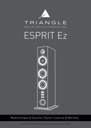 Triangle Enceinte colonne Triangle GAIA ESPRIT EZ NOYER - notice