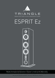 Triangle Enceinte colonne Triangle GAIA ESPRIT EZ BLANC - notice