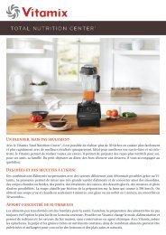 Vitamix Blender chauffant Vitamix TNC5200 BLANC - fiche produit