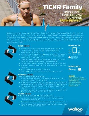 Wahoo Fitness Ceinture Wahoo Fitness TICKR Ceinture Cardio - fiche produit