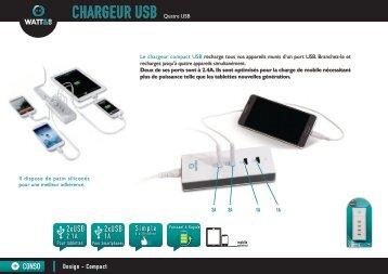 Watt And Co Chargeur USB Watt And Co 4 USB - fiche produit