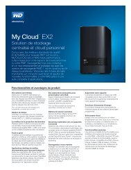 WD Disque dur externe WD NAS My Cloud EX2 8TB USB3 - fiche produit