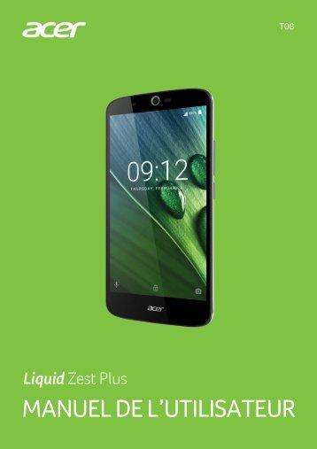 Acer Zest Plus - Manuel d'utilisation