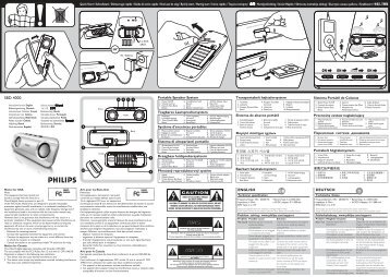 Philips Portable Speaker System - User manual - ENG