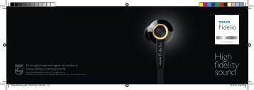 Philips Fidelio Headphones with mic - Product brochure - RUS