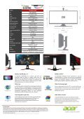 Acer Ecran PC Gamer Acer Predator Z35 G-Sync v2 - fiche produit - Page 2