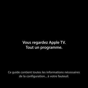Apple Apple TV (1e génération) - Guide de configuration - Apple TV (1e génération) - Guide de configuration