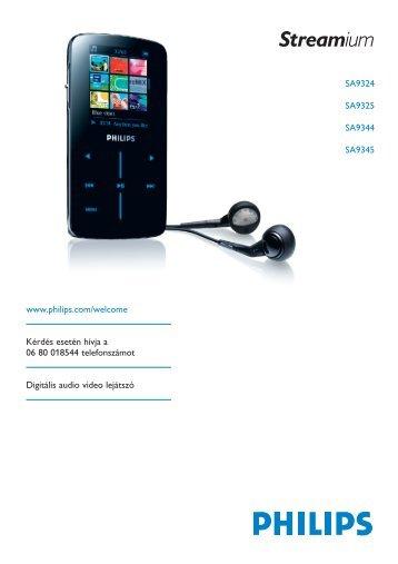 Philips Streamium Flash audio video player - User manual - HUN