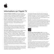 Apple Apple TV (4e génération) - Guide d'informations importantes sur le produit - Apple TV (4e génération) - Guide d'informations importantes sur le produit