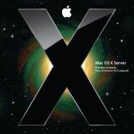 Apple Mac OS X Server v10.5 Leopard - Premiers contacts - Mac OS X Server v10.5 Leopard - Premiers contacts