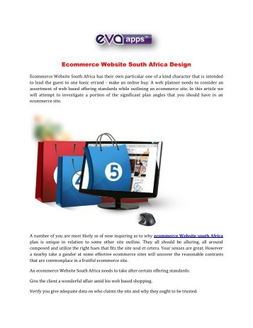 Ecommerce Website South Africa Design