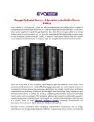 Managed Dedicated Servers - A Revolution in the World of Server Hosting