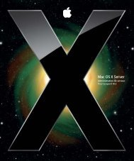 Apple Mac OS X Server v10.5 Leopard - Administration de serveur - Mac OS X Server v10.5 Leopard  - Administration de serveur