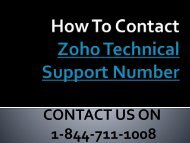 1-844-711-1008 | How Zoho Password Reset Phone Number Is a Better Option For You?