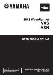 Yamaha VXS - 2013 - Manuale d'Istruzioni Deutsch