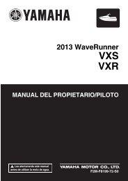 Yamaha VXS - 2013 - Manuale d'Istruzioni Español
