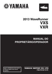 Yamaha VXS - 2013 - Manuale d'Istruzioni Português
