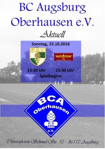 Heimspielwochenende BCA vs. Polizei SV bzw. Suryoye Augsburg
