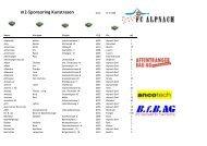 m2-Sponsoring Kunstrasen - beim FC Alpnach