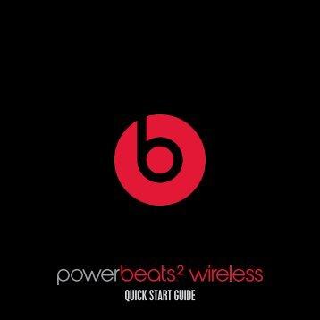 Beats Casque intra Beats PowerBeats Wireless noir - notice