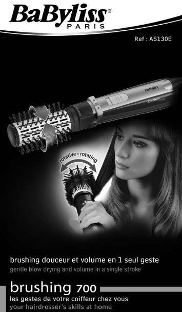 Babyliss Brosse soufflante Babyliss AS130E - notice