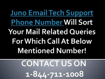 1-844-711-1008 | How Our Juno Email Tech Support Number Works For Your Mail Concern?