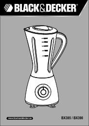 BlackandDecker Mixeur- Bx390 - Type 1 - Instruction Manual (Anglaise - Arabe)