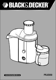 BlackandDecker Presse Fruits- Prje650 - Type 1 - Instruction Manual (Anglaise - Arabe)