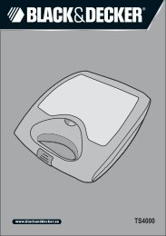 BlackandDecker Croque Monsieur- Ts4000 - Type 1 - Instruction Manual (Anglaise - Arabe)