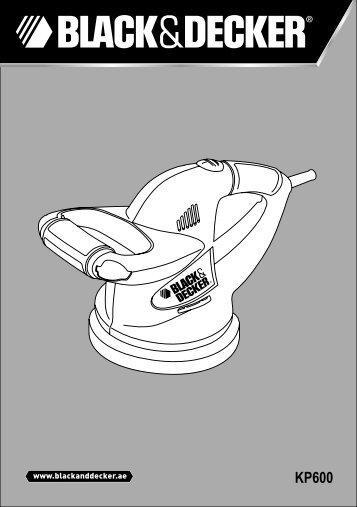 BlackandDecker Meule A Polir- Kp600 - Type 1 - Instruction Manual (Anglaise - Arabe)