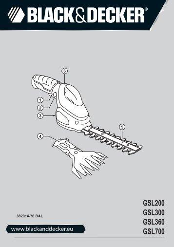BlackandDecker Debroussaileuse- Gsl200 - Type H1 - Instruction Manual (Balkans)
