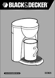 BlackandDecker Cafetiere- Dcm25 - Type 1 - Instruction Manual (MEA)