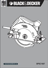 BlackandDecker Scie Circulaire- Bpsc1607 - Type 1 - Instruction Manual (Anglaise - Arabe)