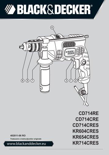 BlackandDecker Marteau Perforateur- Cd714re - Type 2 - Instruction Manual (Roumanie)