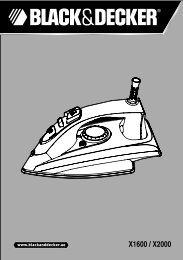 BlackandDecker Fer A Vapeur- X2000 - Type 1 - Instruction Manual (Anglaise - Arabe)