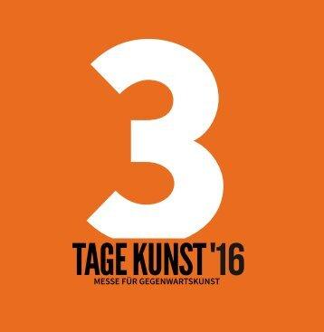 Booklet zur Messe 3 TAGE KUNST 2016