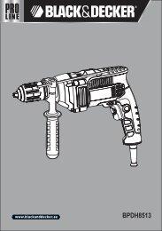 BlackandDecker Marteau Perforateur- Bpdh8513 - Type 1 - Instruction Manual (Anglaise - Arabe)