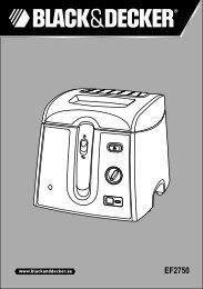 BlackandDecker Friteuse- Ef2750 - Type 1 - Instruction Manual