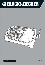 BlackandDecker Grille- Lgm70 - Type 1 - Instruction Manual (Anglaise - Arabe)