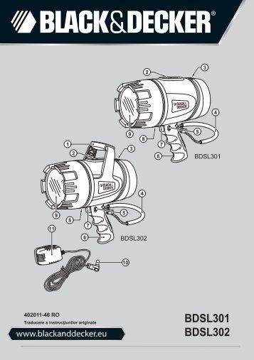 BlackandDecker Lampe Spot- Bdsl301 - Type 1 - Instruction Manual (Roumanie)