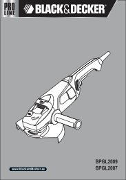 BlackandDecker Meuleuse- Bpgl2009 - Type 1 - Instruction Manual (Anglaise - Arabe)
