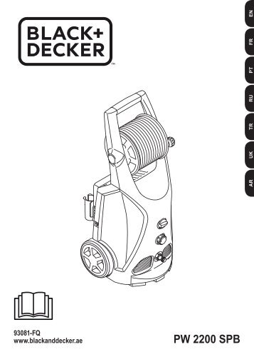 BlackandDecker Nettoyeurs Haute Pression- Pw2200spb - Type 1 - Instruction Manual (Européen)