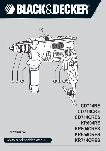 BlackandDecker Marteau Perforateur- Kr604re - Type 1 - Instruction Manual (Balkans)