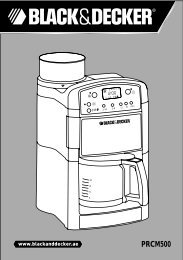 BlackandDecker Cafetiere- Prcm500 - Type 1 - Instruction Manual (Anglaise - Arabe)