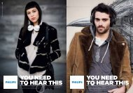 Philips O'Neill THE TREAD in ear headphones - Product brochure - ENG