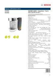 Bosch Tassimo Bosch TAS7004 Caddy Blanc - fiche produit