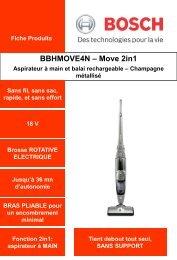 Bosch Aspirateur balai Bosch BBHMOVE4N - fiche produit